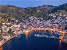 Harta Turistica Cu Hoteluri Hydra Insulele Din Marea Egee Grecia