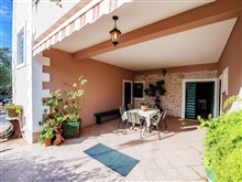 Spacious Ground Floor Apartment Big Private Covered Terrace 200 M Fr, Bibinje