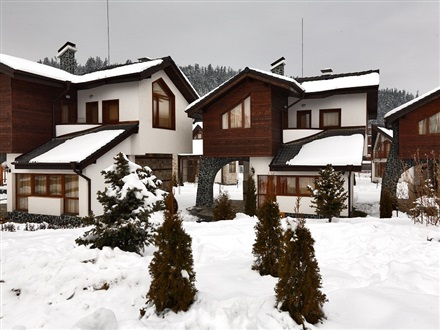 Winter view chalets