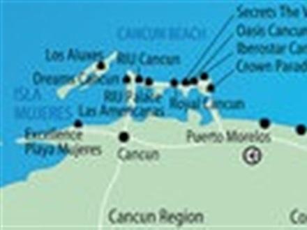 Book at Dreams Riviera Cancun Resort Spa, Quintana Roo, Mexico ... Dreams Riviera Cancun Resort Map on